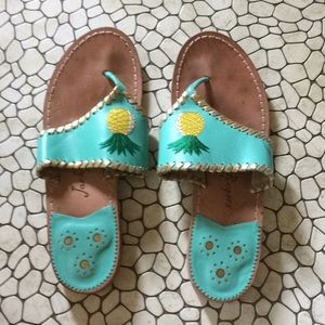 Jack Rogers limited edition pineapples.